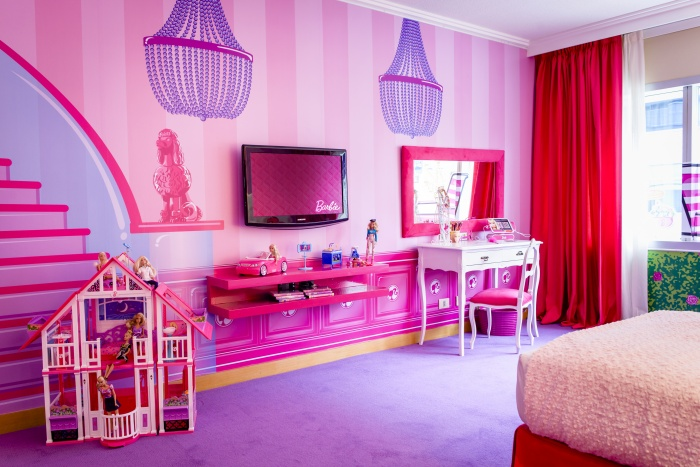How far would you travel to stay in a barbie hotel room for Hotel barbie