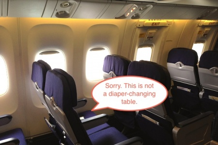 Would You Change a #2 Diaper in Your Airplane Seat?