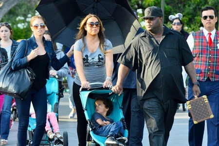 Mariah Carey is Not Above Renting a Stroller at Disneyland