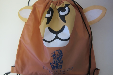 What's in the Lion Knapsack at The Ritz-Carlton Marina Del Rey in Los Angeles?