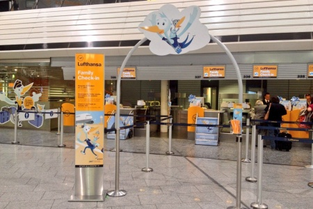 Check Out Lufthansa's Adorable Family Check-In Counter